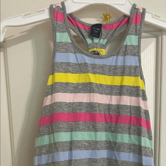 Girls Gap Sleeveless Multicolor Dress, Size 5Y